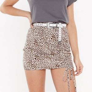 Nasty Gal leopard print mini skirt